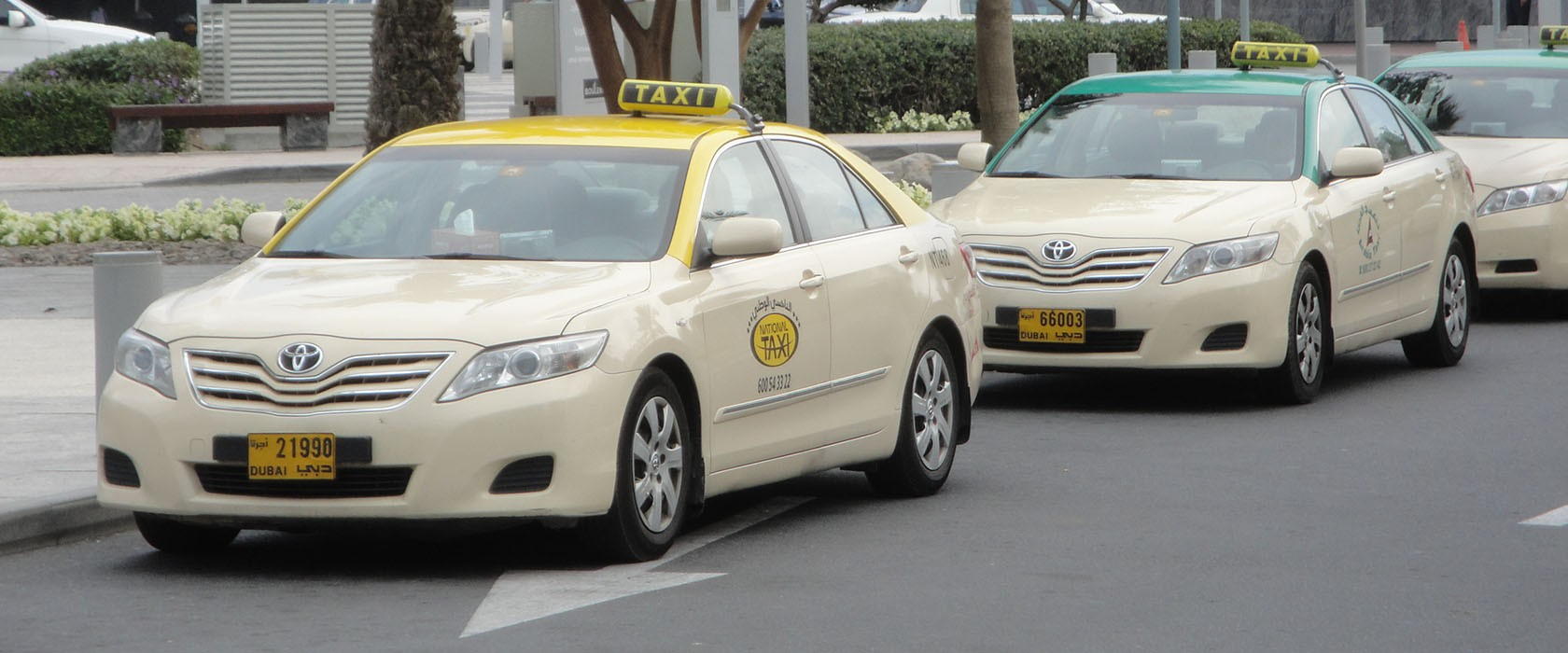 Taxi's in Dubai