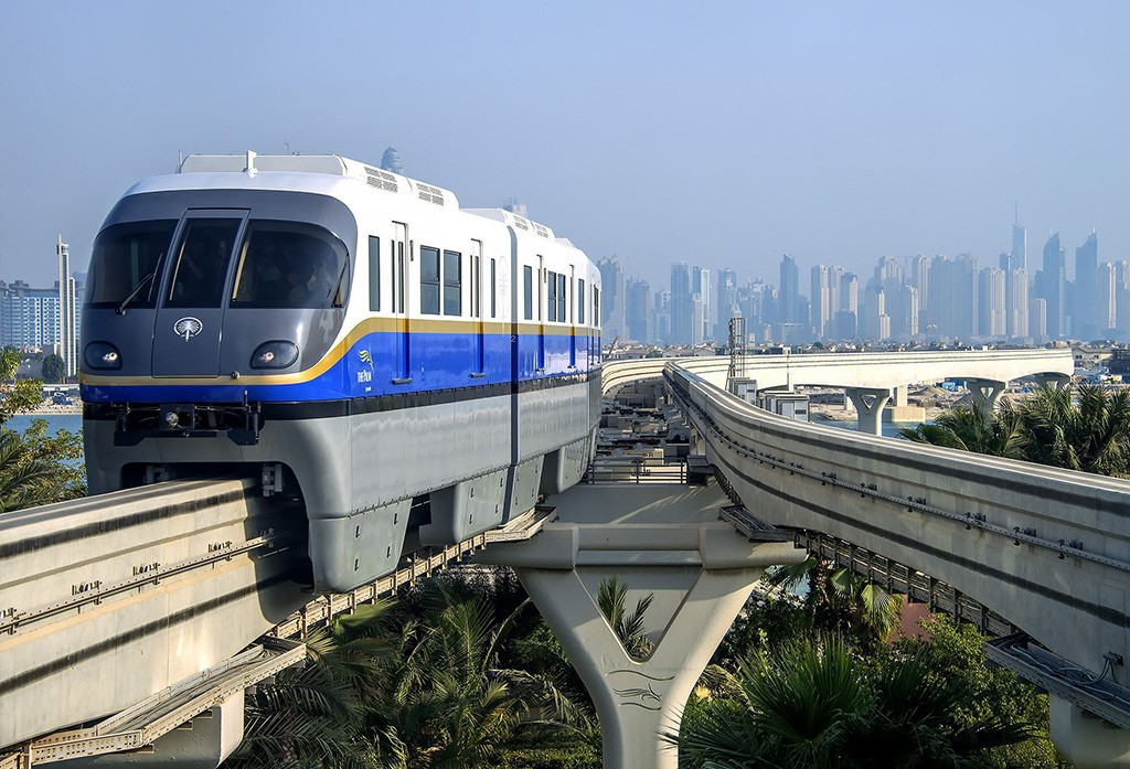 Palm Jumeirah monorail in Dubai