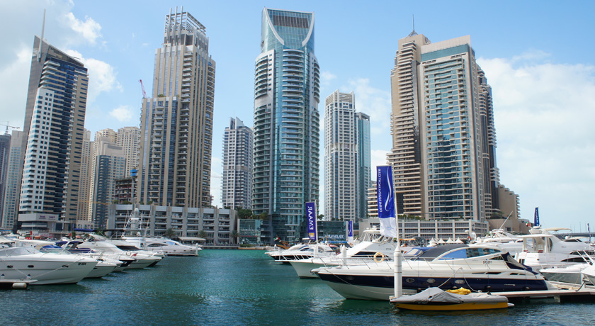 De Dubai Marina en The Walk