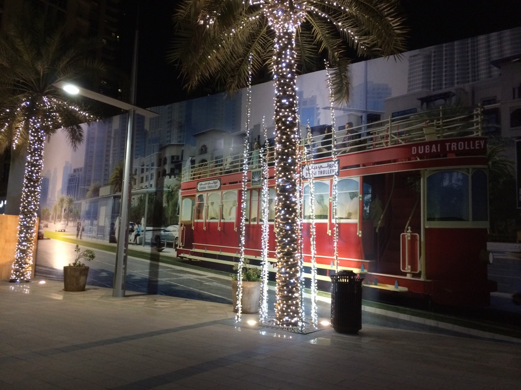 Dubai Trolley in Downtown Dubai