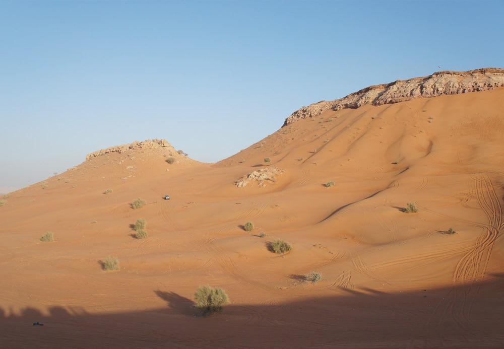 De woestijn van Dubai