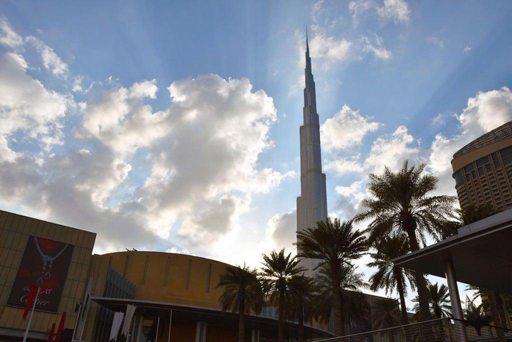 De Burj Khalifa in Dubai, het hoogste gebouw van de wereld