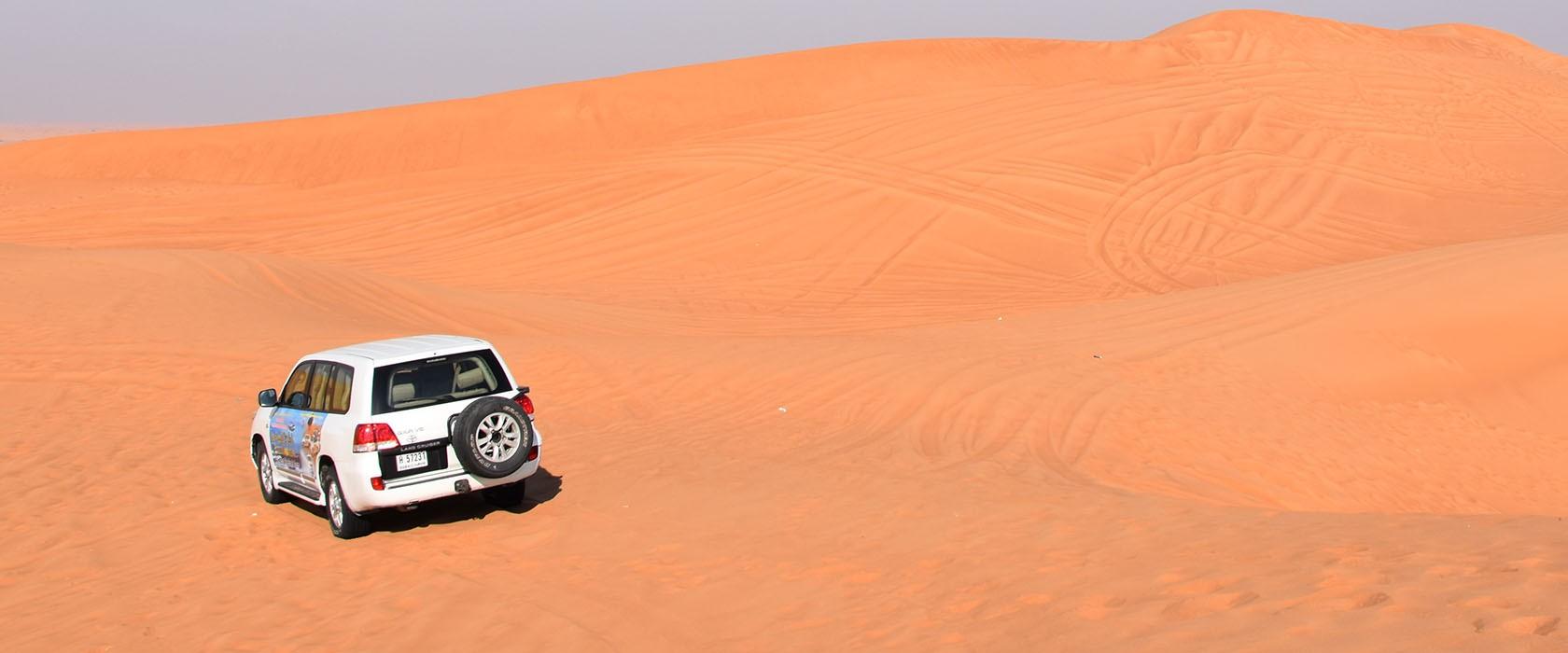 Ochtendsafari in de woestijn van Dubai
