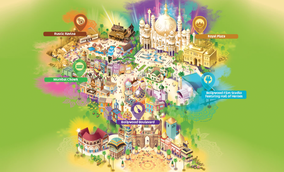 Bollywood Parks Dubai map