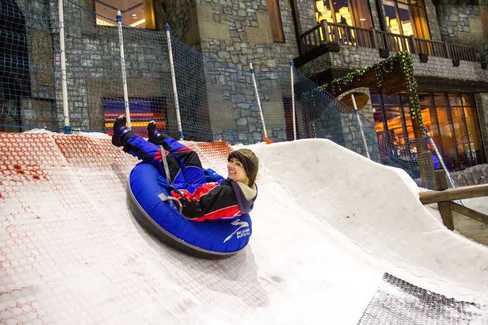 Ski Dubai in de Mall of the Emirates