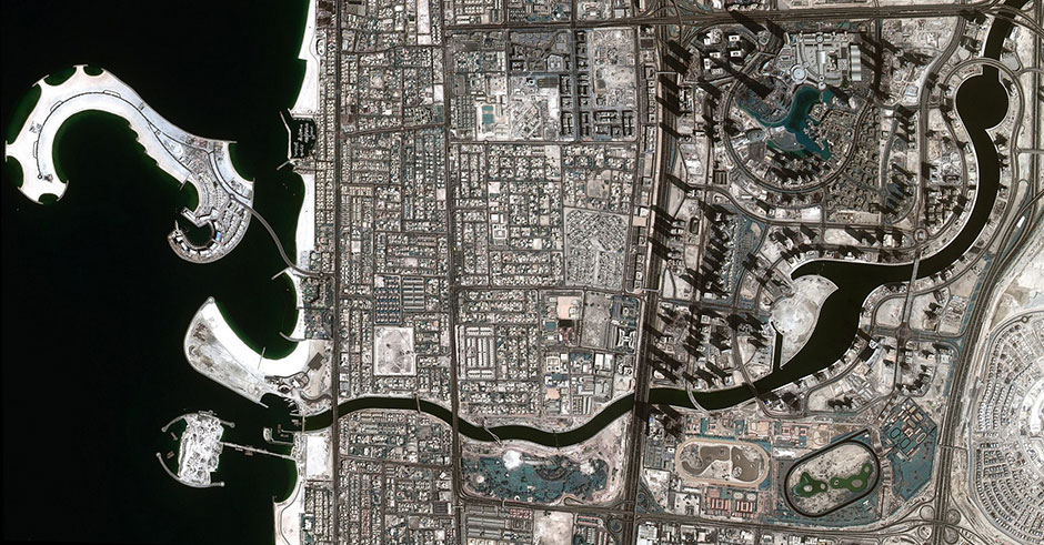 Dubai Water Canal satellite foto