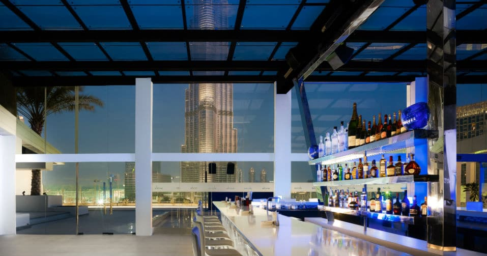 Above rooftop bar Sofitel Downtown Dubai