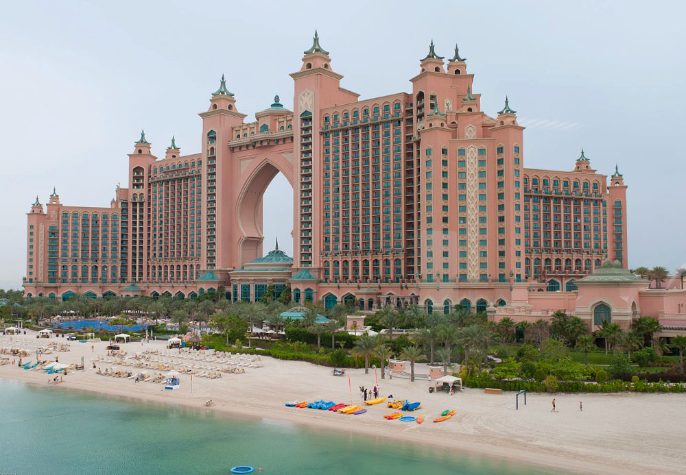 Atlantis hotel in Dubai op Palm Jumeirah