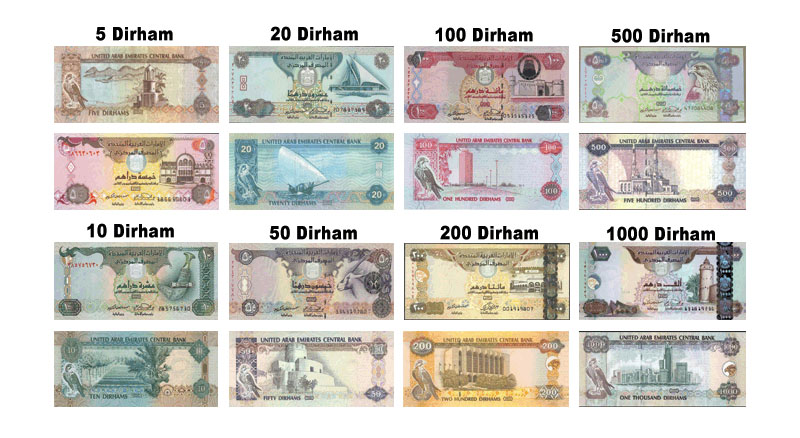 Dirhams in Dubai