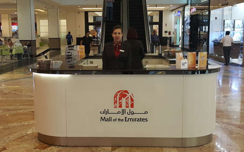 Service point in de Mall of the Emirates
