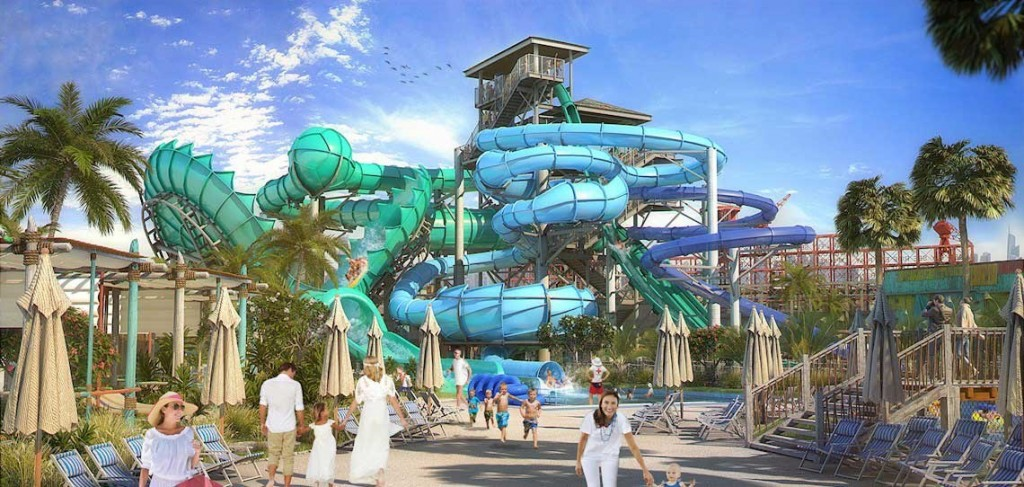 De Manta in het Laguna Waterpark in Dubai
