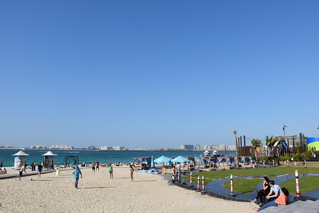 Het JBR Beach strand in Dubai