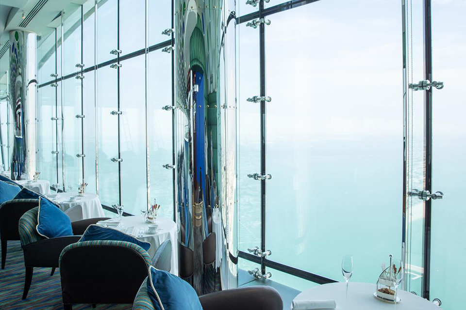 High tea in the Burj al Arab