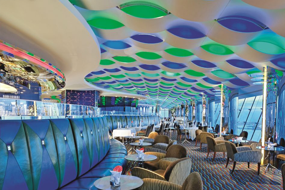 Skyview bar in de Burj Al Arab in Dubai