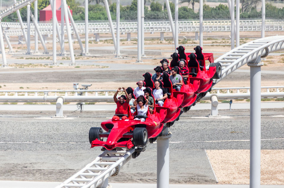 The Ferrari World the park in Abu Dhabi