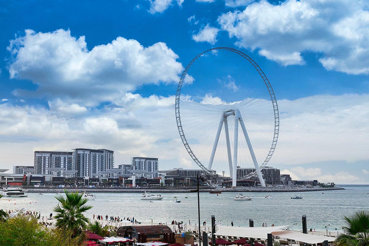 The Ain Dubai on the Bluewaters Island in Dubai