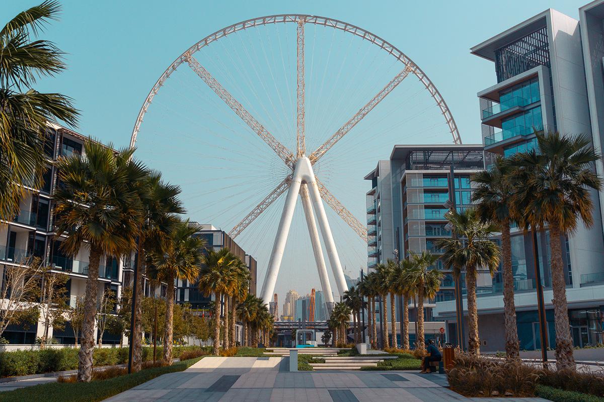 De Ain Dubai op het Bluewaters Island in Dubai