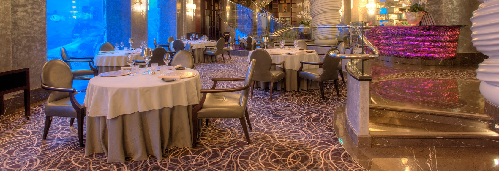 Lunchen en dineren in Atlantis the Palm