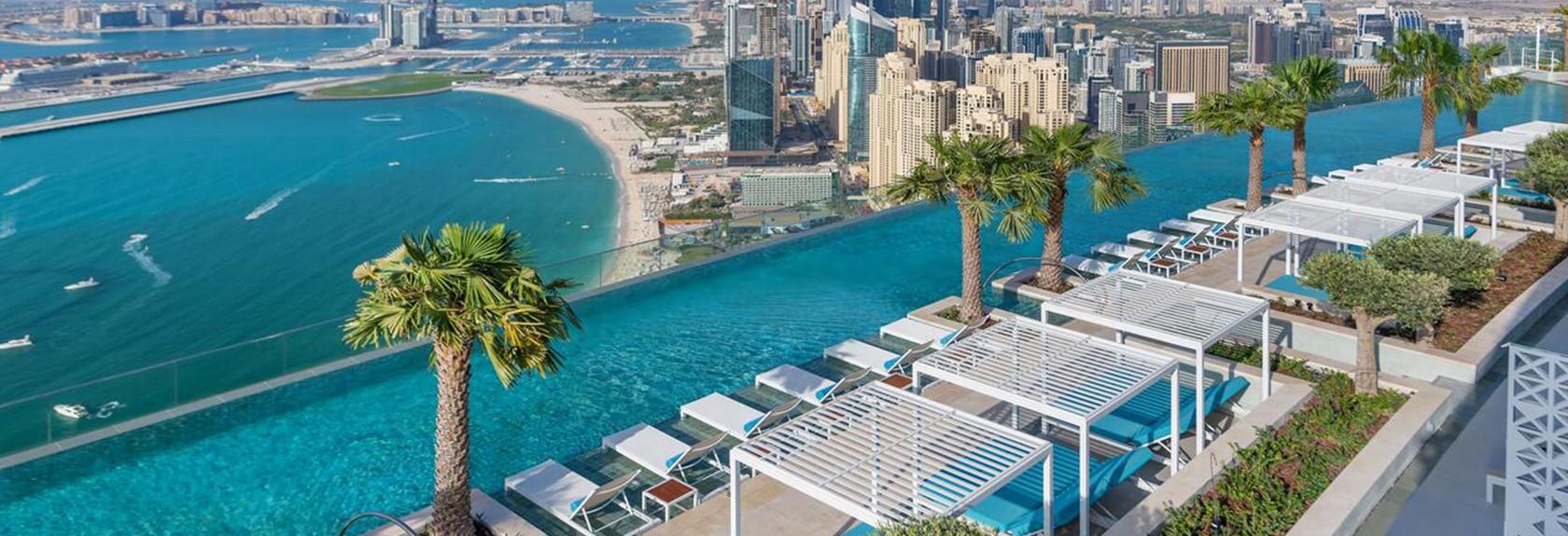 De hoogste infinity pool van de wereld – Address Beach Resort
