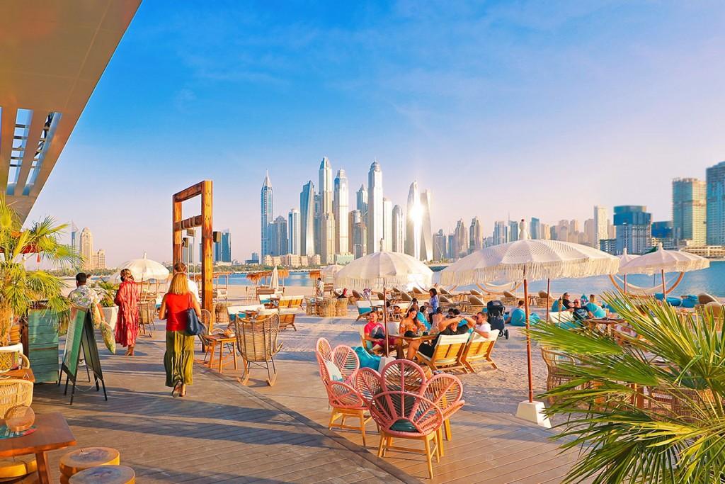 Palm West Beach in Dubai op het Palm Jumeirah